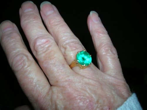 Green Ring given by Sai Baba to Valerie Barrow